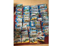 Lego - 30 plus models to make including airports, lorries, ships all with instruction booklets