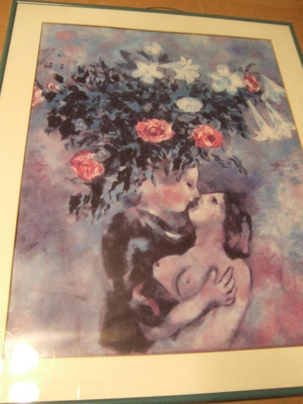 """Maze""by Marc Chagall 922-925 signed excellent condition Framed"
