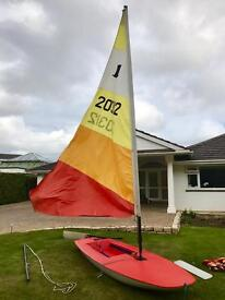 Red Topper Sailing Dinghy without trailer