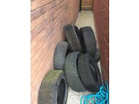 Free scrap tyres for collection only