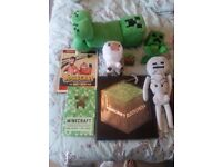 Minecraft books/ soft toys for sale- £45 for all items