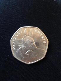 Squirrel Nutkin Beatrix Potter 50p fifty pence coin 2016