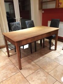 Solid wooden restored dining table