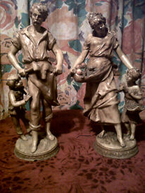 4SALE,A PAIR OF,FRENCH PORCELAIN FIGURES,BY SCULPTOR, F MOREAU