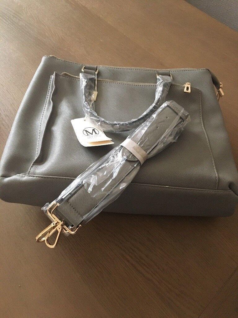Grey handbag/laptop/iPad bag