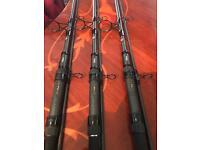 Nash scope set up carp rods reels net