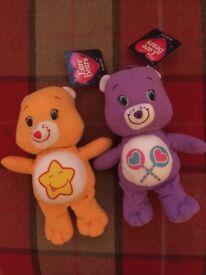 Care Bears soft toys x2