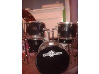 Full set of drums.