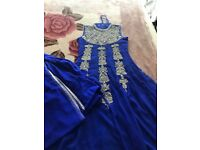 Royal blue Asian dress
