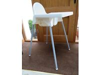 IKEA Baby High Chair, white. Very Good Condition.