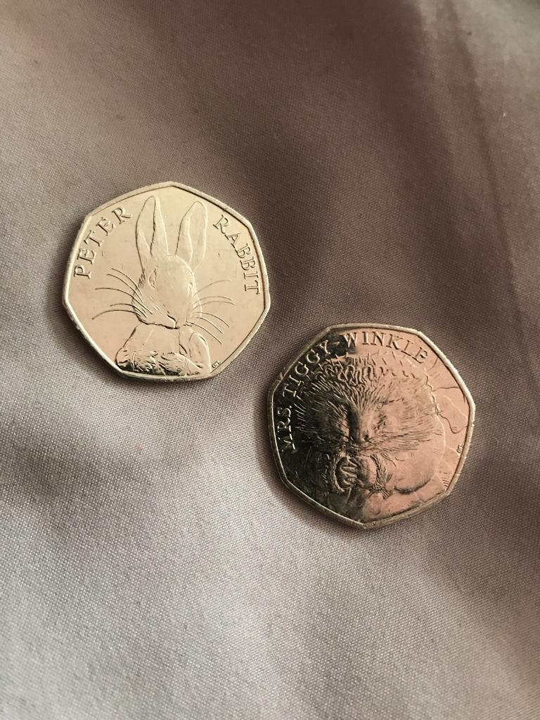 Collectible Beatrix Potter 50pence coins