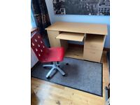 Office desk and IKEA chair
