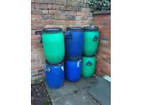 120L Heavy Duty Plastic Barrels
