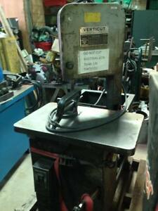 Verticut (baxter) Roll in vertical bandsaw, 550 volt,tilt table. with blades