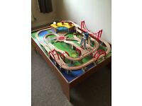 130 piece train table with trains