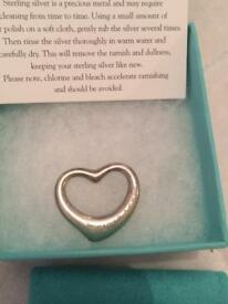 Tiffany & Co medium open heart pendant