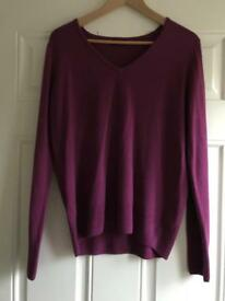 Ladies size 14 v neck jumper