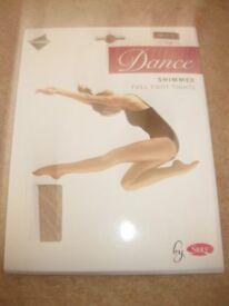 2x PACK OF BRAND NEW DANCE TIGHTS age 11-13 (shimmer & full foot) Bargain Price