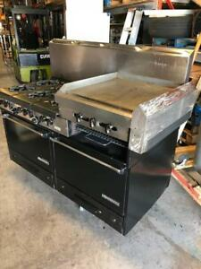 Cuisiniere au gaz Garland 6 feu plaque 2 fours Garland Gas Range 6 Burners Griddle 2 Ovens