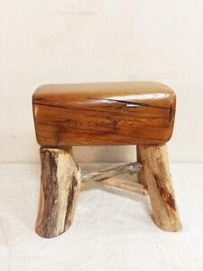 Artisanal Solid Wood Rustic Bench