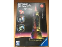 3D Ravensburger Puzzle Empire State Building Night Edition