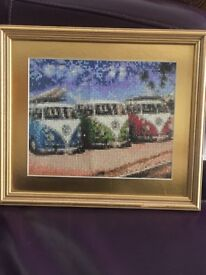 Vw camper van diamond art framed canvas £45