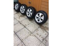 TOYOTA AVENSIS 5x100 ALLOYS FOR SALE WITH TYRES - also fits seat, Leon, VOLKSWAGON