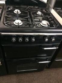 Black leisure 60cm gas cooker grill & double ovens good condition with guarantee