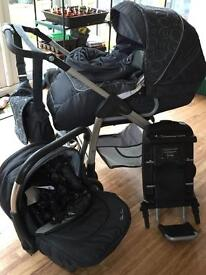 Silvercross travel system and isofix car base