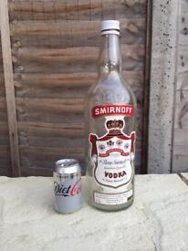 Smirnoff vodka bottle