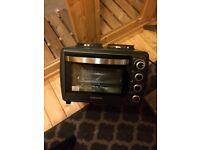 Mini fan oven / grill /rotisserie two hot plates