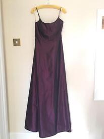 Kelsey Rose plum coloured bridesmaid/prom dress