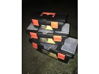 Set of 3 brand new tool boxes