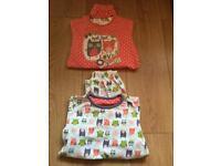 Girls pyjamas TU sainsburys age 4-5