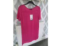 BNWT - LADIES CERISE PINK DRESS/TOP (SHEER) - SIZE 8 - NEXT / OTHER BRAND NEW SIZE 8 - IDEAL GIFTS