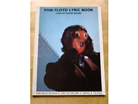 Attention Music Lovers and collectors 'Pink Floyd' lyric book. Excellent condition £20