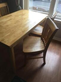 Oak table with 4 chairs OPEN TO OFFER