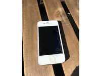 iPhone 4S White (Cracked Screen but working)