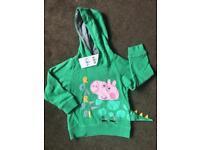 BNWT M&S Age 2-3 George Pig ROAR Hoodie