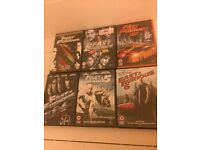 Fast and furious DVDs 1-6