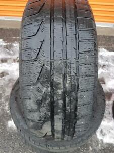 3 PNEUS HIVER - PIRELLI 225 55 17 - 3 WINTER TIRES