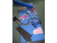 Yoga mat, Foam roller, Kettlebell, Weights, Bands - Full Exercise Kit in PERFECT condition
