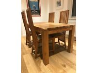 Indonesian Teak Dining Table - 4 X Teak Chairs - Same Weight As Oak