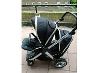 Oyster max double pushchair CAN POST Great condition