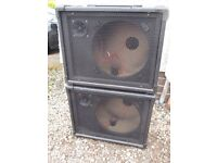 2 x Empty P.A. Speaker Cabinets (Cabs PA)