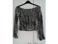 Nice b/w striped blouse. £5
