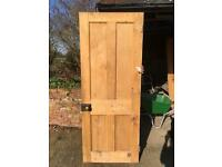 Reclaimed Pine 4 Panel Pine doors (9 available)