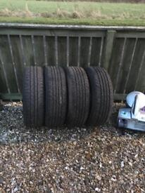 4 almost new tyres