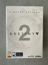 Destiny 2 Limited Edition Pc Game Expansion Pass Collectors Box SEALED