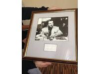 Jo Pesci signed picture in frame mint condition slight chip left hand side frame